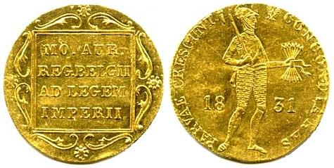 Золотые монеты Польши