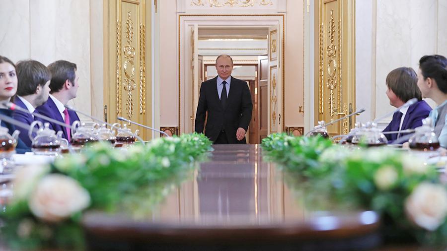 Путин считает нужным создать в России платформу электронной торговли
