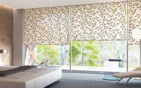 Современные шторы. Три вида: рулонные, паттерны, плиссе