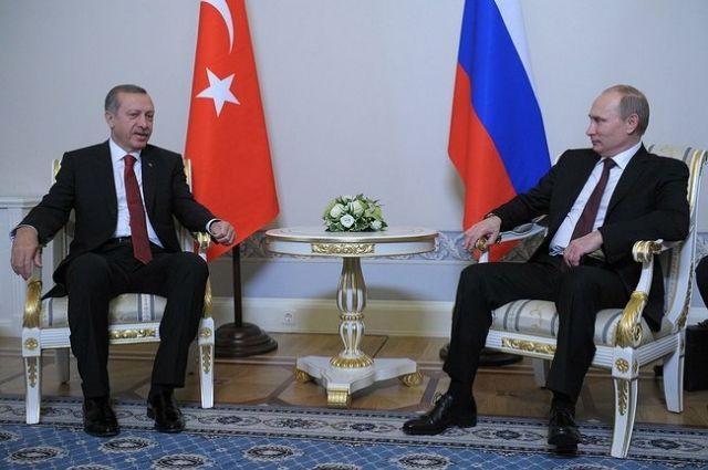 Путин пошутил, что сходит с Эрдоганом в ресторан