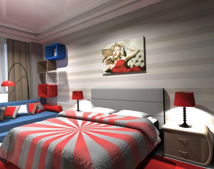 Что представляет собой спальня в стиле поп-арт?