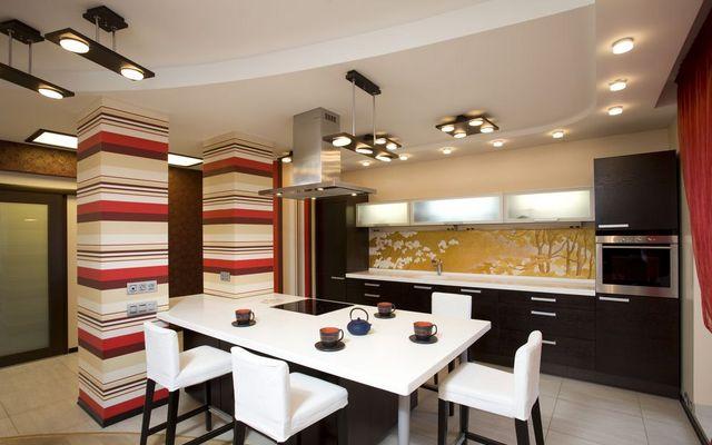Устройство освещения на кухне. Полезные советы