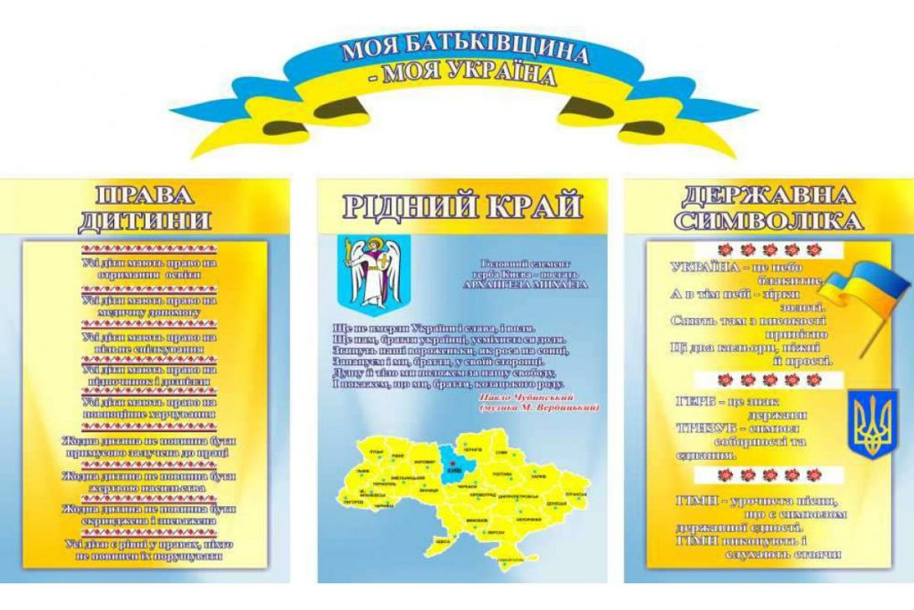 Стенды с символикой Украины для учебных заведений: особенности, где заказать с доставкой?