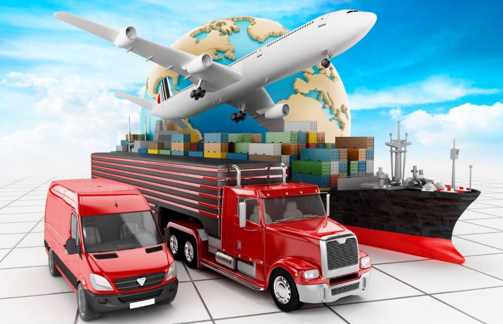 Виды грузов транспортируемых из Китая