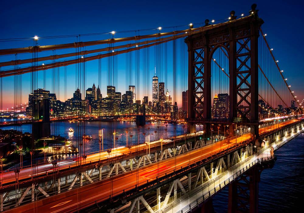 Достопримечательности США: Бруклинский мост в Нью-Йорке