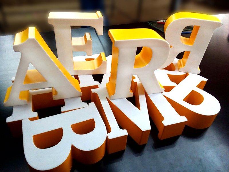 Привлекательные объемные буквы