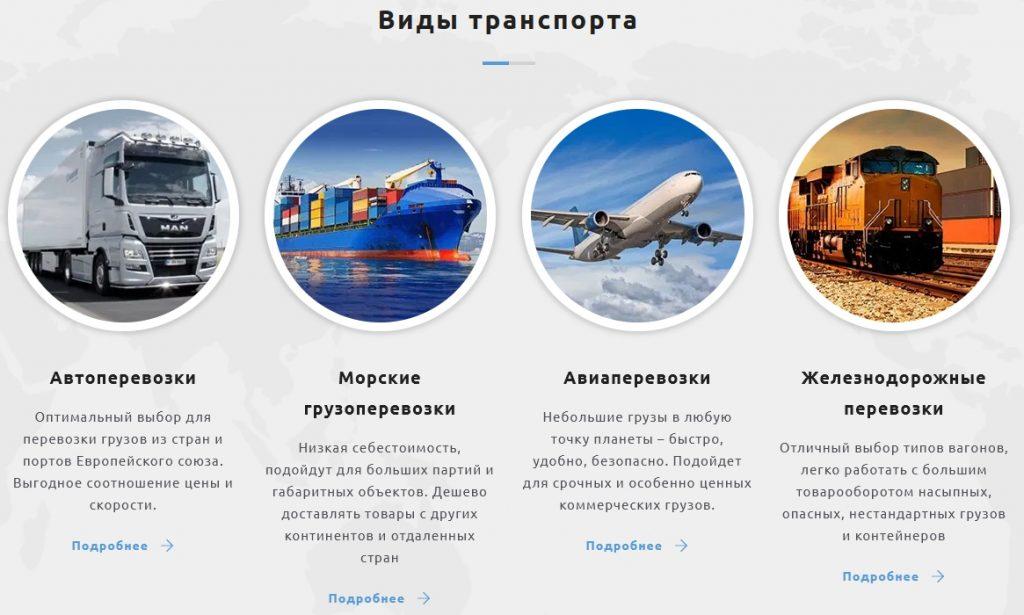 Международные грузоперевозки от компании Swift Trans