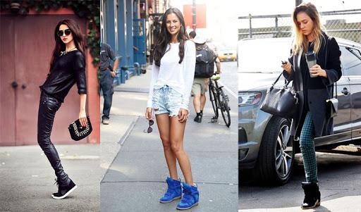 Советы моднице: с чем носить кеды на каблуке?